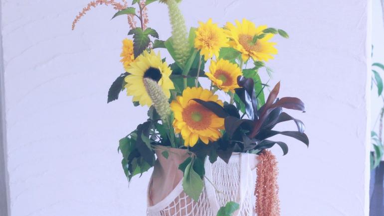 夏。向日葵。UV対策。